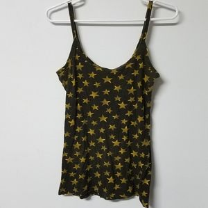 🌟 Op comfy black yellow star cami junior's M